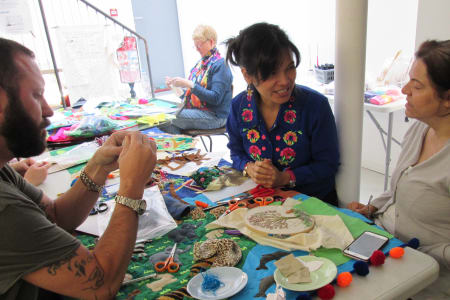 Studying & Stitching your own 'Arpillera' textile art with Bella Lane