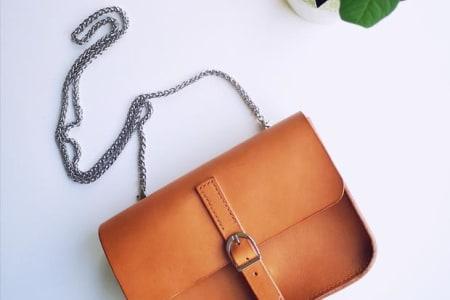 Make your Own Leather Handbag DIY (yes... really!)