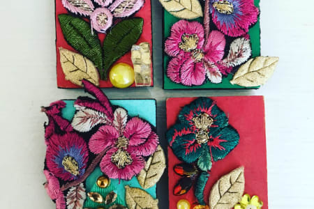 Fabric Mosaic Art Learn to make these lovely pieces of mini mosaics
