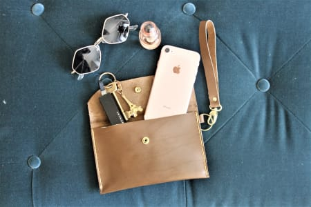 Make a Leather Clutch or Phone Case