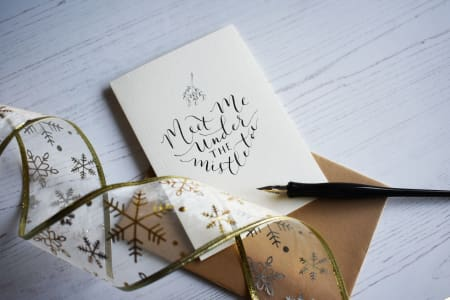Christmas Modern Calligraphy Workshop
