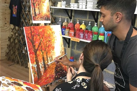 Couple painting - Dating with a Difference