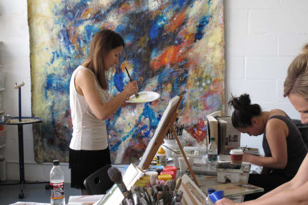 Art Class in an Artist's Working Studio