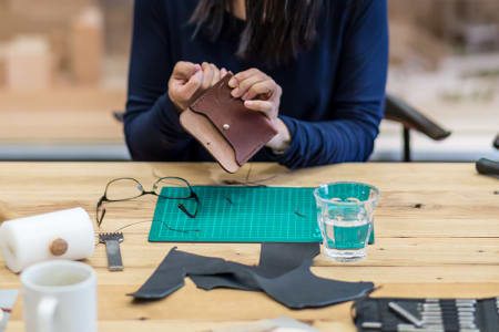 Make a Leather Cardholder or Purse