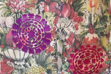 Print on Fabric with Metallic Foils