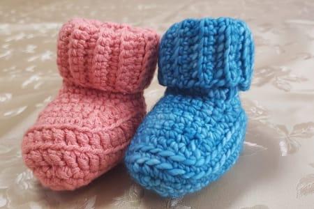 Crochet- baby booties