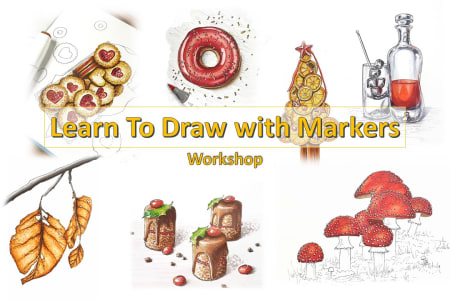 Learn to Draw with Markers: Beginners