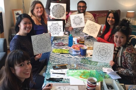 Mandala Drawing & Painting Class