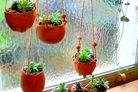Make Ceramic Hanging Plant Holders