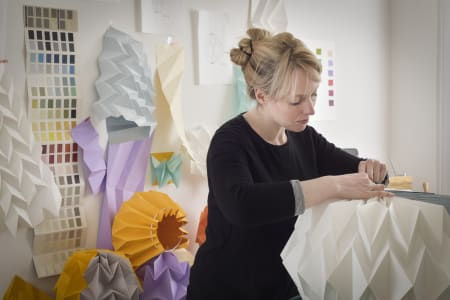 Paper Folded Lampshade with Artist & Designer Kate Colin