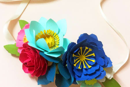 Paper Flower Crown Workshop