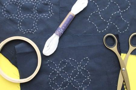 Beginners Sashiko Embroidery + Prosecco!