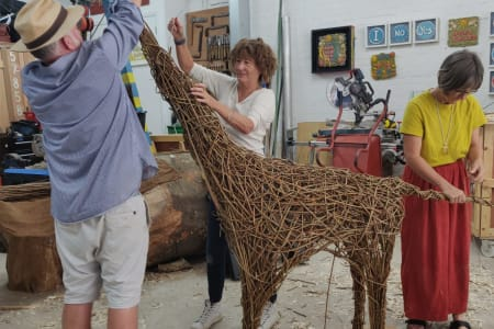 Weave a willow animal for Christmas