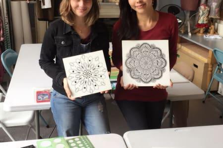 Mandala Drawing and Painting Class
