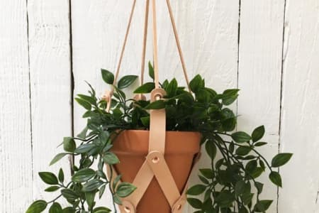 Leather Plant Hanger Workshop