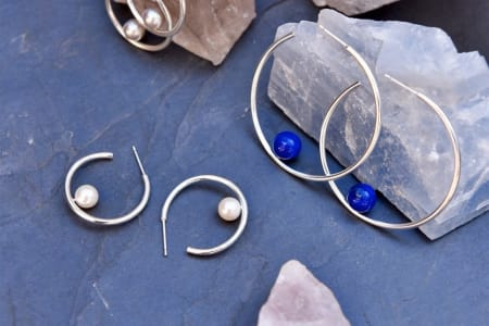 Statement Silver Hoop Earrings Workshop