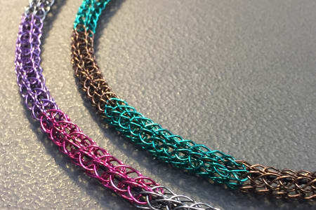 Viking Weave Jewellery - Make a woven Wire Necklace Class