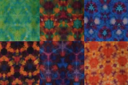 Dye a shibori silk scarf