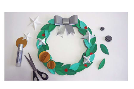 Make a Unique Papercraft Christmas Wreath-East London