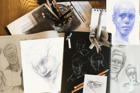 Head and Facial Features Drawing Class for Beginners