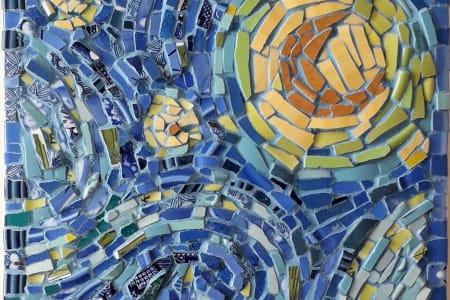 Mosaic Study of Van Gogh in China, Crockery and Ceramics