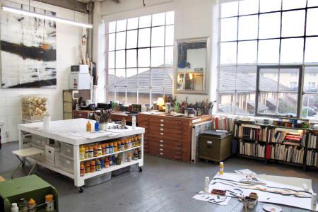 Art Class in an Artist's Working Studio