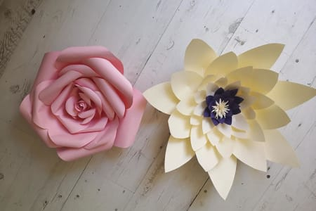 Create your own Giant Paper Flowers Workshop