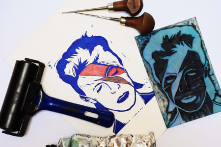 Print and Prosecco Night | Lino Printmaking