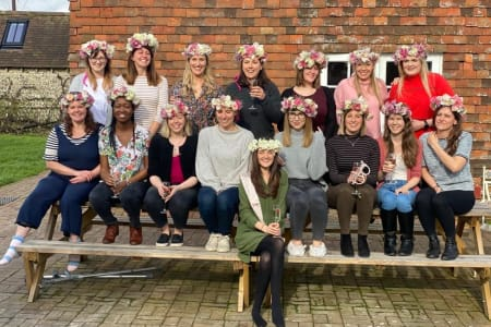 Fresh flower crown workshop, hen party!