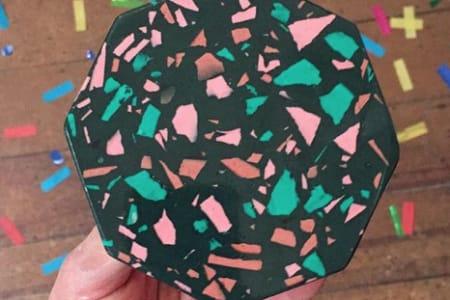 Casting Jesmonite - Terazzo Effect Coasters
