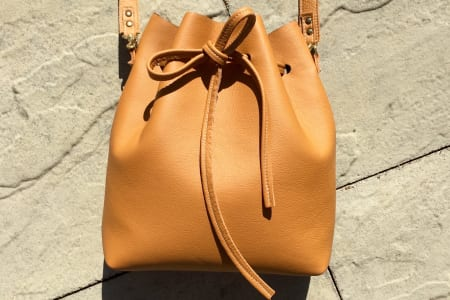 Bucket Bag Workshop. Sew your own leather bag!