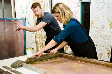 Try traditional silk-screen printing