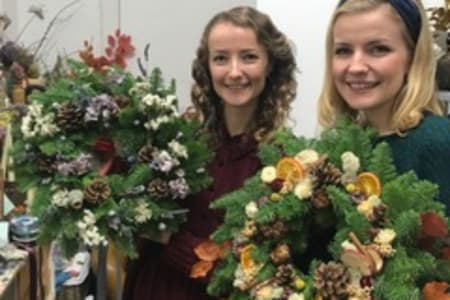 Wreath Making with the amazing Flower Factory