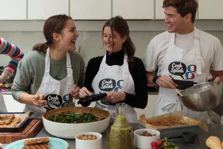 French and cooking class combined with a meal (brunch, lunch, dinner)