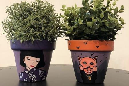 Paint Your Own Plant Pot