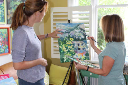 Colourful Acrylic Landscapes on Canvas