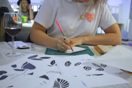 Floral Fabric Printing Workshop