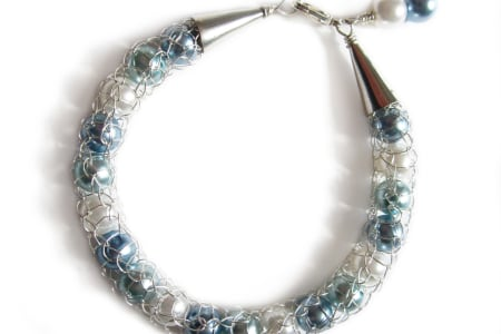 French Knitted Wire Jewellery - Make a Beaded Bracelet in a day