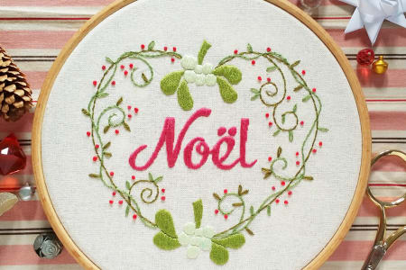 Embroidery for Beginners with Carina Envoldsen-Harris - Christmas edition!