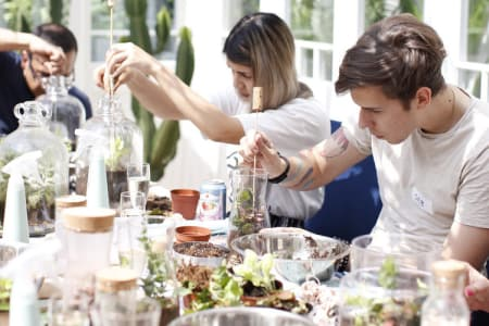 Leafage Terrarium Workshop + Prosecco