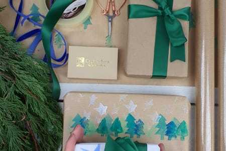 Kids Print Your Own Wrapping paper