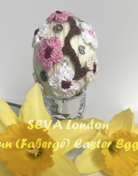 Fun (Fabergé) Easter Eggs - Felting and Crochet by Hooked On Crochet - crochet workshops and classes in Eltham/ Greenwich - crafts in London