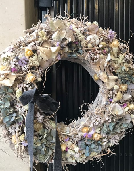 Seasonal Wreath Workshop/Class - Skandi Style by The Flower Factory LDN - crafts in London