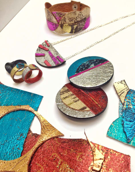 Metallic Leather Jewellery by Creative Happy London - crafts in London