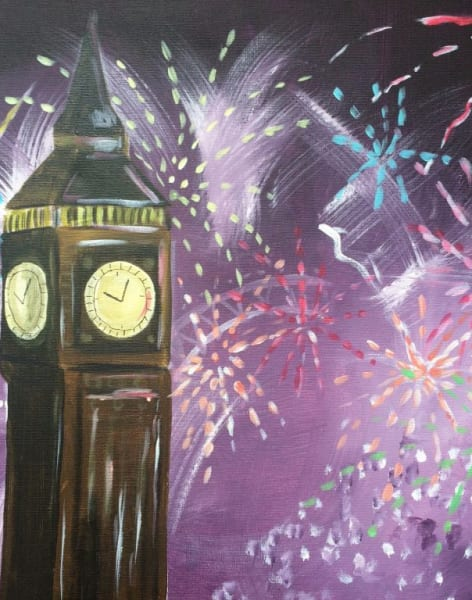 Fireworks Paint Night! by PopUp Painting - art in London