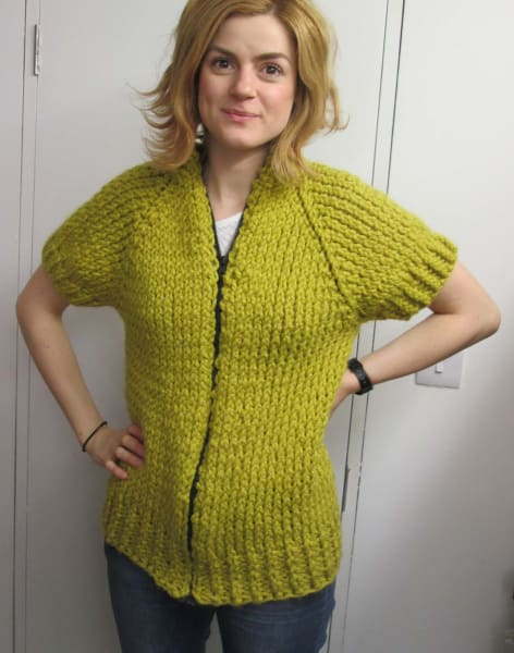 Learn to knit a 'Top Down' jumper or cardigan with Jill Bulgan by Fabrications - crafts in London