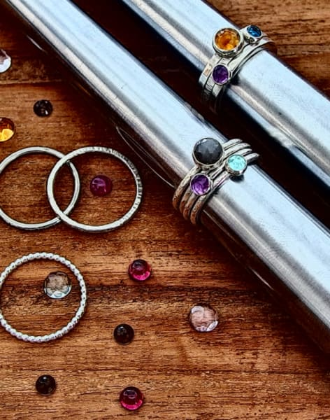 Stacking Rings & Gemstone Setting by Creative Escape Studio - crafts in London