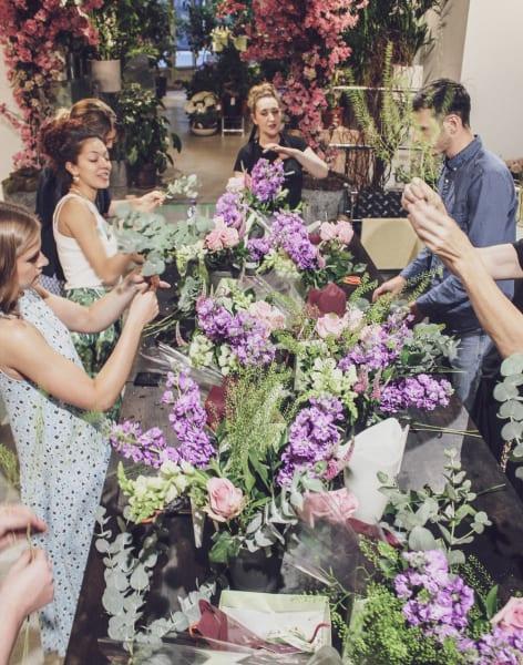 Beginners Flower Arranging Workshop by Moyses Stevens Flower School - crafts in London