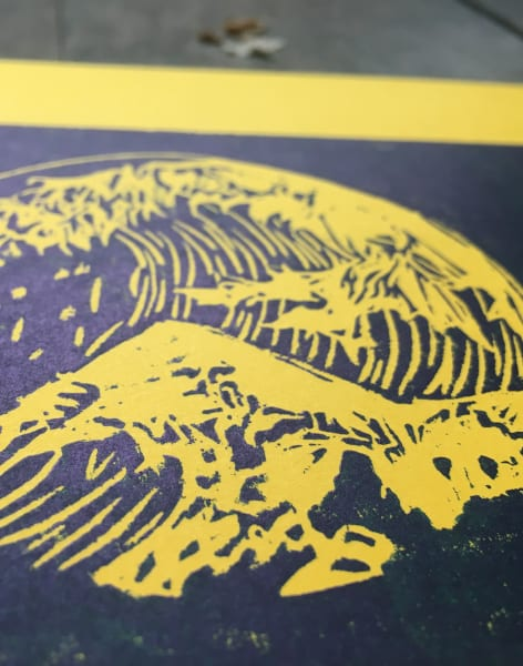 Traditional Woodblock Printing Workshop : Theme : The Great Wave of Kanagawa' By Katsushika Hokusai  by Lavender Print School - art in London