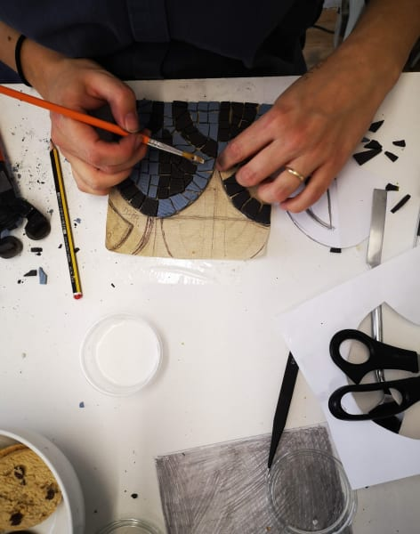 One Day Indirect Method Mosaic Workshop by South London Mosaic - art in London